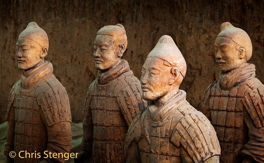 Het beroemde terracotta leger in Xi'An is typisch Chinees en staat symbool voor de eeuwenoude Chinese cultuur